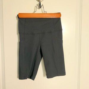 Zella Ribbed Bike Shorts
